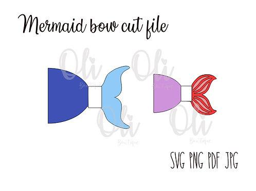 Mermaid bow SVG cut file