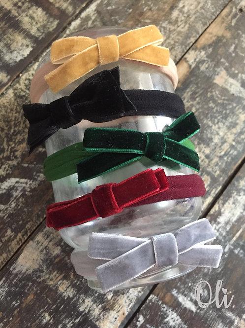 Velvet bow headband • Faixinha de laço veludo