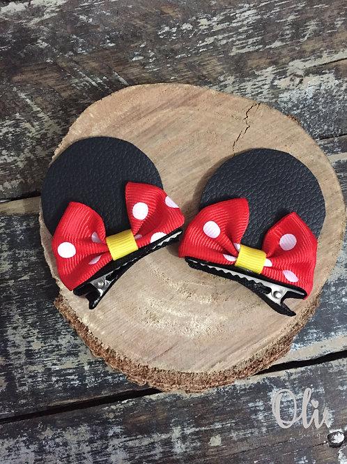 Minnie ear hair clip • Parzinho hair clip de Minnie lonita