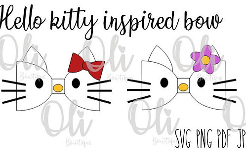 Hello Kitty inspired bow SVG cut file