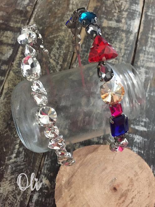 Crystal stone embellished Alice band • Tiara pedrarias