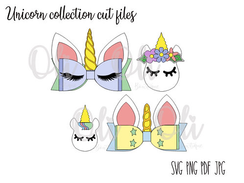 Unicorn collection SVG cut file