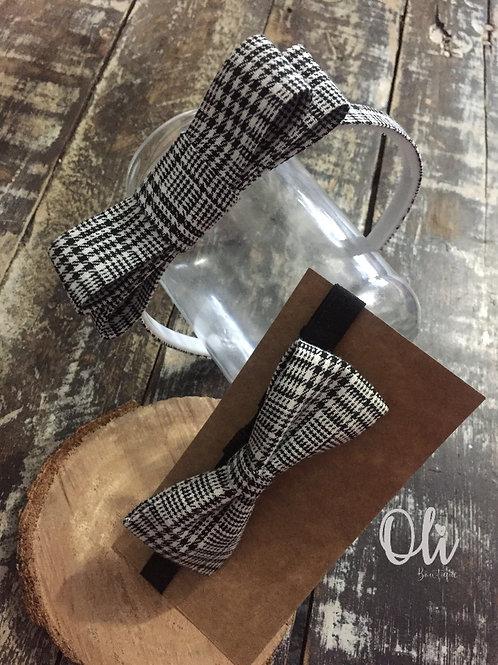 Alice band and bow tie set • Kit tiara e gravata para menino