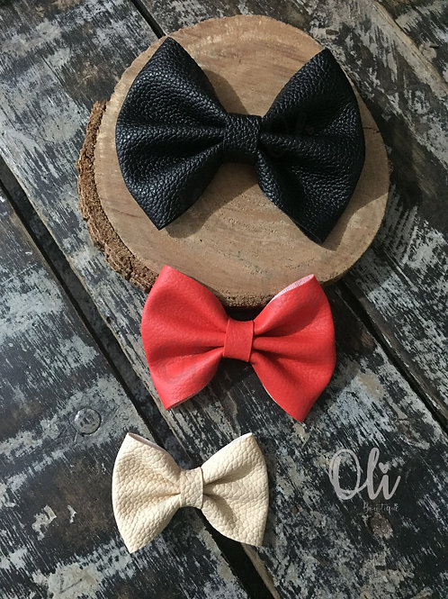 Leatherette Lia bow • Laço Lia courinho