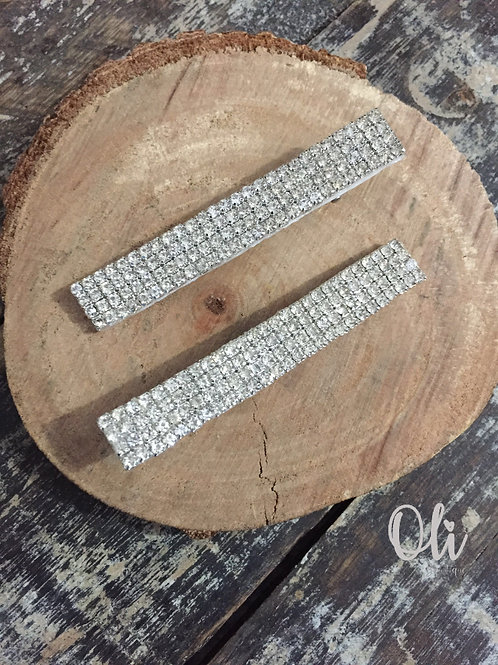 Super shiny rhinestone hair clip • Hair clip com strass alto brilho