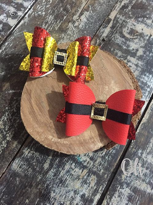 Santa bow • Laço Papai Noel