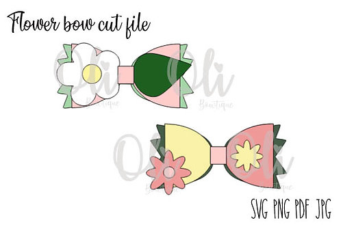 Flower bow SVG cut file