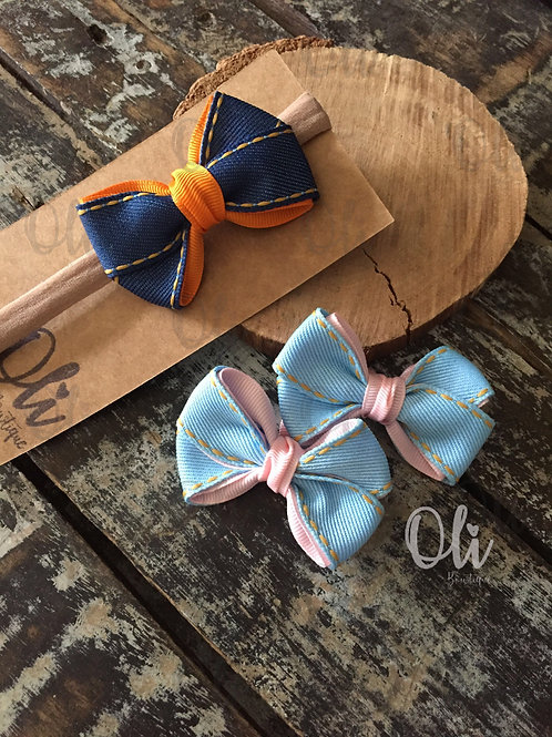 Denim Charlotte bow • Laço Charlotte jeans