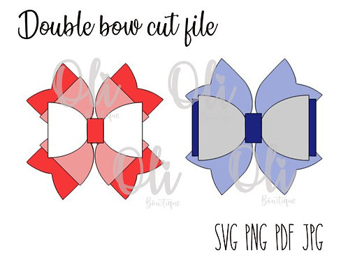 Double bow SVG cut file