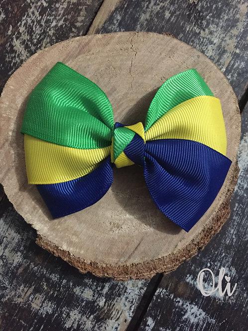 Tricolour Lia bow • Laço Lia tricolor com trança