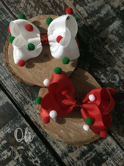 Christmas Bia bow • Laço Bia Natal