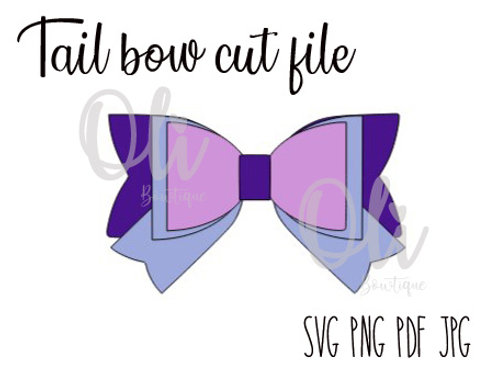 Tail bow SVG cut file