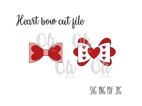 Heart bow SVG cut file