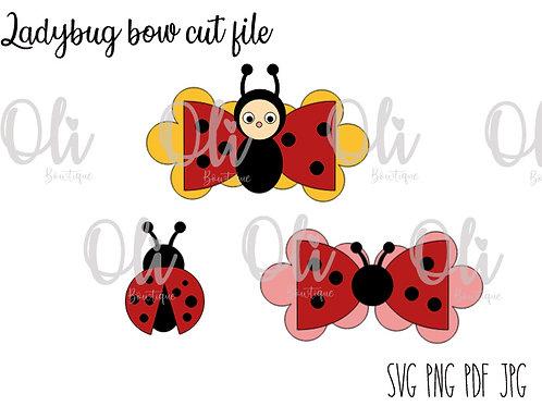Ladybug bow SVG cut file