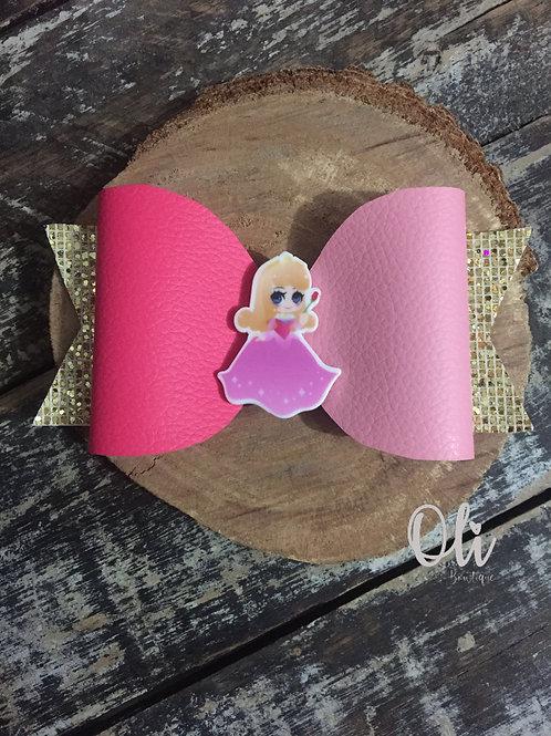 Aurora leatherette bow • Laço Aurora lonita