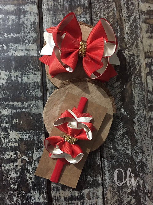 Christmas Alicia bow • Laço Alicia Natal