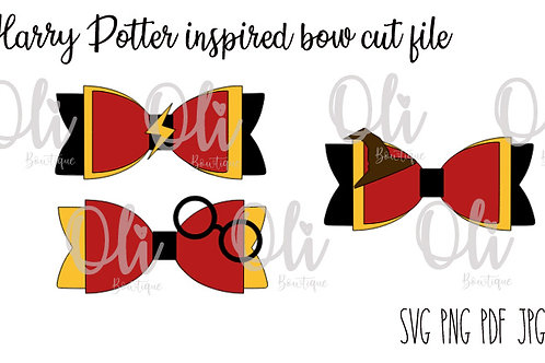 Harry Potter inspired bow SVG cut file