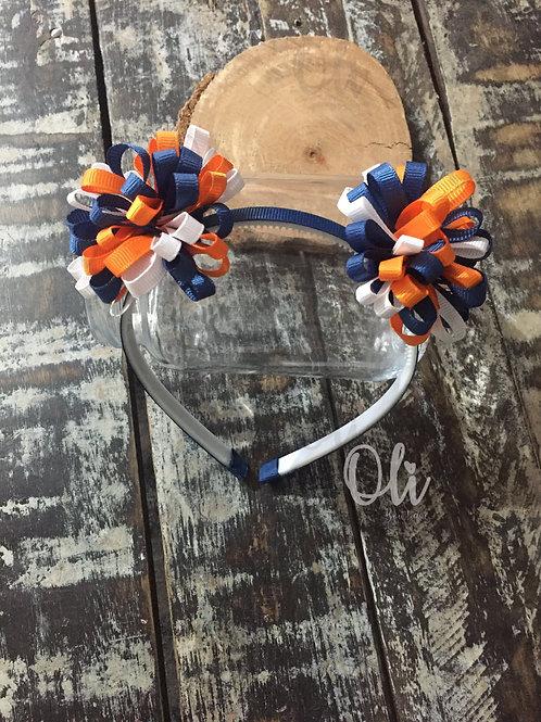 Loopy puff bow Alice band • Tiara laço pompom
