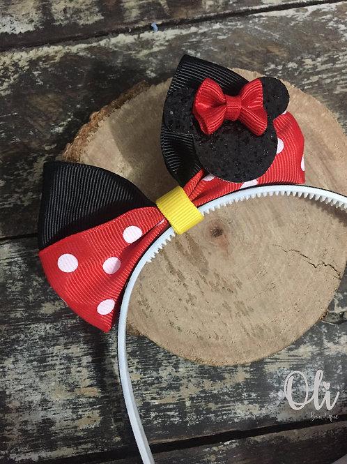 Minnie bow Alice band • Tiara laço Minnie