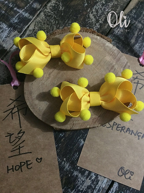 Boutique pigtail bows • Parzinho laço boutique