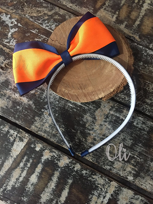 Back to school Alice band Lia bow • Tiara laço Lia escolar