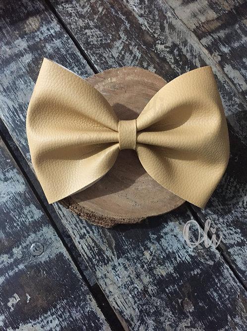 Maxi leatherette Lia bow • Laço Lia courinho maxi