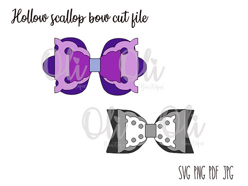 Hollow scallop bow SVG cut file