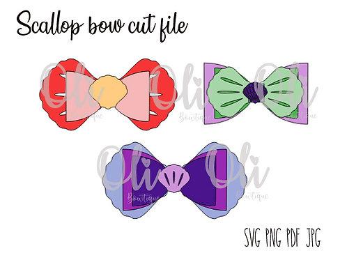 Scallop bow SVG cut file