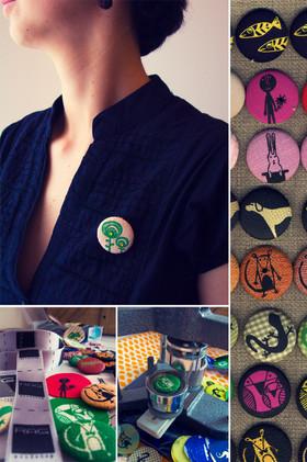 Screen printed badges