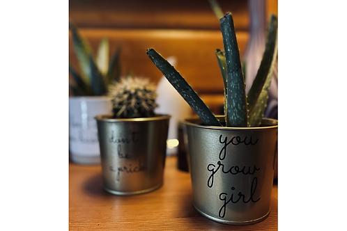 You Grow Girl Plant Pot