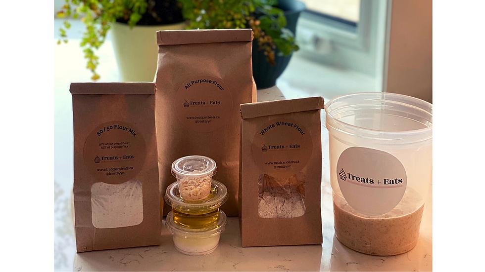 Sourdough Bread + Cracker Starter Kit