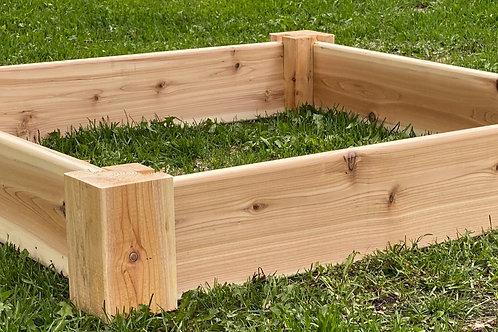 Cedar Sand Box + Sand