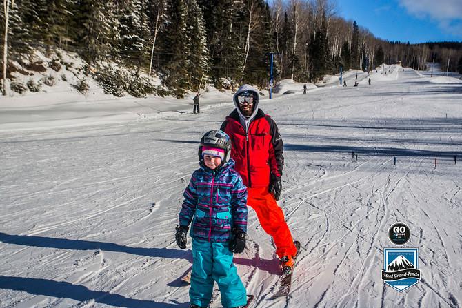 Mont Grand-Fonds: Des élèves et du ski!