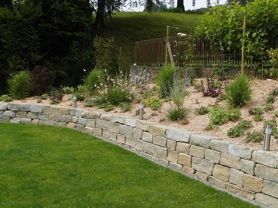 Steinmauer Im Garten Steinmauer Im Garten Bauen Ideen Fur