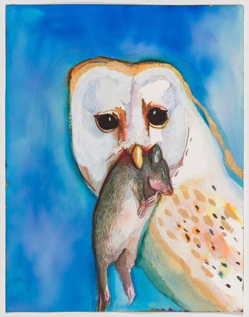 Karen Heagle Untitled (Owl with Field Mouse) 2020