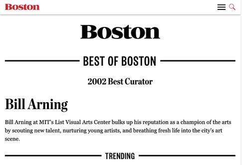 Boston Magazine: 2002 Best Curator