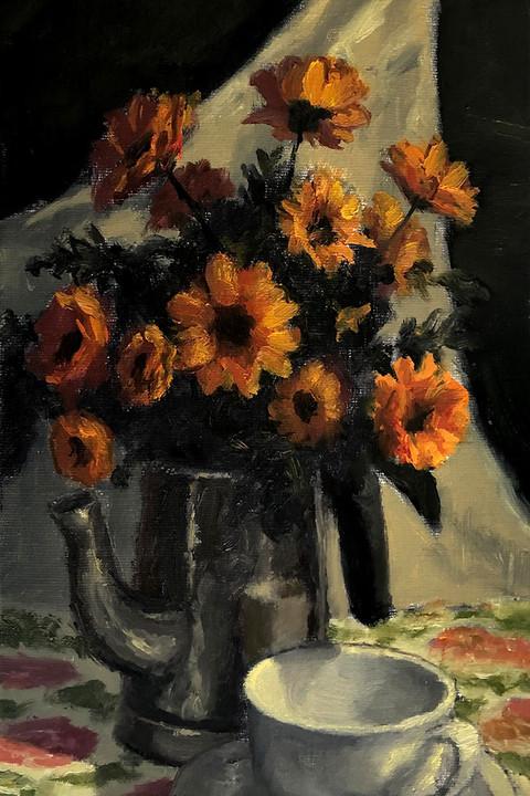 Flores Amarelas na Chaleira