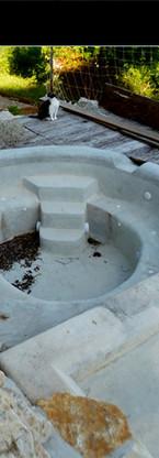 """Décor peint fond de bassins aux gîtes """"Les Hauts de Choranche"""" (38), 2020"""