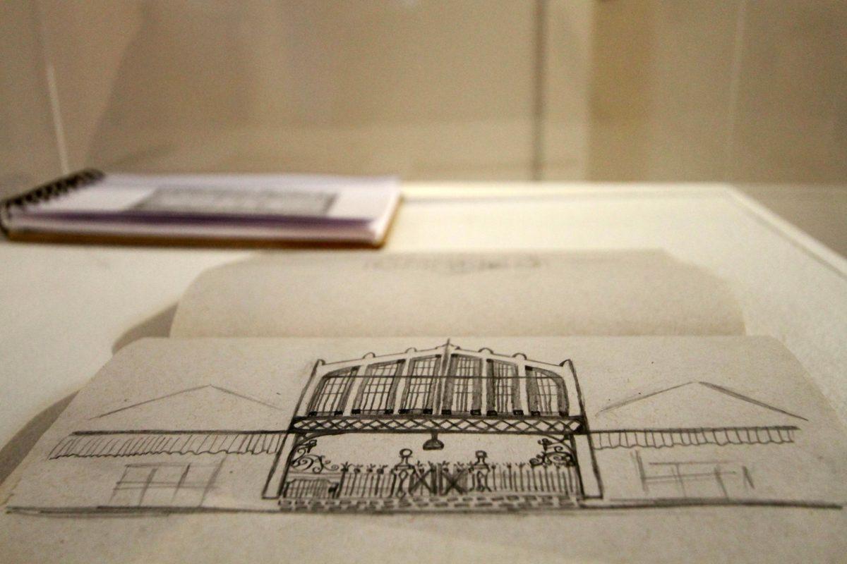 Sketch - ilustração à lápis (antes de ser redesenhada em vetor) - Foto Igor Sperotto