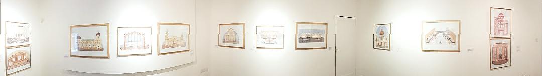 Panorâmica da exposição Galeria ECARTA