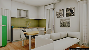 To show their customers the 3D project of their property is always unique and surprising emotion. Italian Home Renovation London Interior Design Rendering and Project