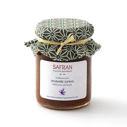 Confiture rhubarbe safran 120 g