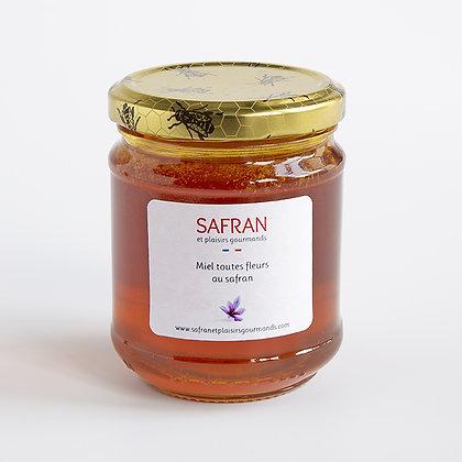 Miel toutes fleurs au safran 250 g