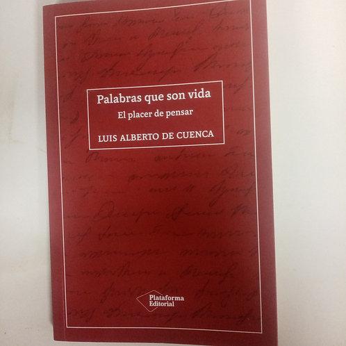 Palabras que son vida (Luisa Alberto de Cuenca)