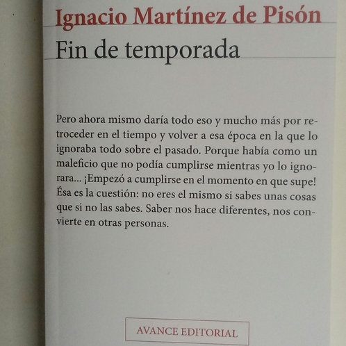 Fin de temporada (Ignacio Martínez de Pisón)