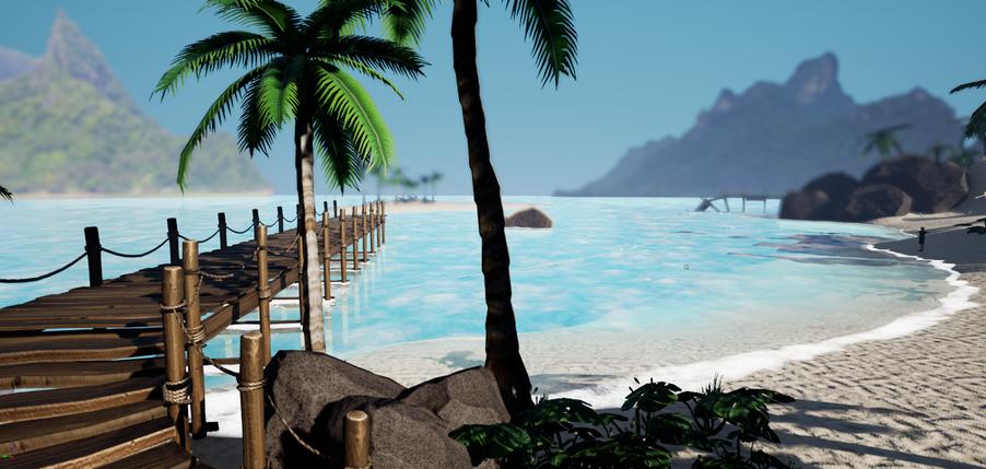 Sebastian's Beach Test scene