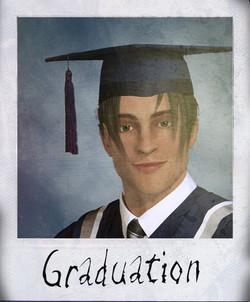 Graduation polaroid
