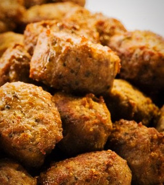 The perfect meat balls: onions and garlic make this meal delicious