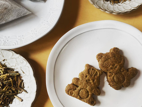 緑茶を食べる【有機ほうじ茶のさくさくクッキー】