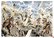 Gandalf VS Orcs on the wall of Minas tir
